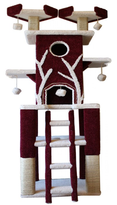 Cat trees cat condos and furniture for your cat for How to make a cat tower