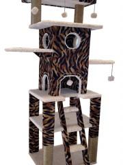 Tiger Leopard print cat tower