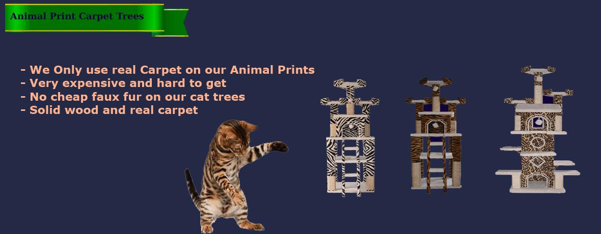 Animal Print Carpet Trees
