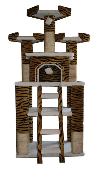Cat Tree Tiger Gym Cat Furniture Cat Condo Cat Trees