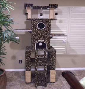 Leopard Carpet Cat Tree Cat Tower